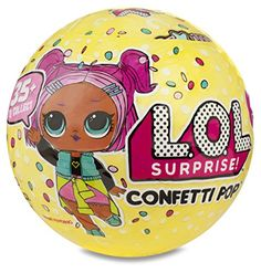 "L.O.L. Surprise! Confetti Pop-Series 3-Wave 1 Unwrapping Toy - In a world where babies run everything, little rockers rebel against nap time and teacher's pets become class presidents with ""Free Pizza Fridays!"" In this world, all work is play and nothing is dull cuz it's all a lil' surprising and outrageous! L.O.L. Surprise! Confetti Pop is a surprise party ..."