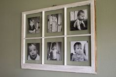 Has instructions for hanging the pictures and frame. diyantiquewindowpictureframe_1