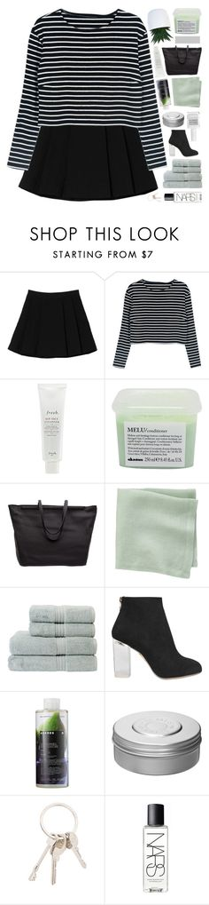 """COLLAB WITH KIRSTEN ♡"" by golden-tragedy ❤ liked on Polyvore featuring Monki, WithChic, Fresh, Davines, The Row, CB2, Christy, Charlotte Olympia, Korres and Hermès"