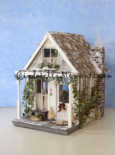 Quintessential Cottage Dollhouse for by cinderellamoments on Etsy, sold