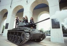 Van Halen wanted to crush a Volkswagen Beetle with a tank in 1979… just to piss off Aerosmith | Dangerous Minds  Now you know I had a bunch of pics from this photoshoot on my bedroom wall in '79...