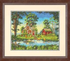 Summer Cottage by Dimensions Gold Collection, counted cross stitch kit