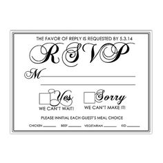 Elegant Wedding RSVP Card  Printed 5.5 x 4 inch by DfinitiveDesign, $20.00