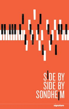 """By breaking up the piano keys, this poster uses the principle of alignment to grab attention. The poster uses the element of shape to illustrate the piano and contrast between the black and white keys and orange background to make it """"pop. Typo Poster, Jazz Poster, Poster Layout, Graphisches Design, Book Design, Cover Design, Layout Design, Graphic Design Posters, Graphic Design Typography"""