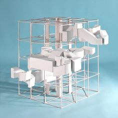 for 's tower 📷:. Grid Architecture, Concept Models Architecture, Architecture Model Making, Conceptual Architecture, School Architecture, Parasitic Architecture, Architectural Sculpture, Architectural Models, Arch Model