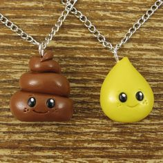 Tiny Best Friends Necklace Set - Pee and Poo