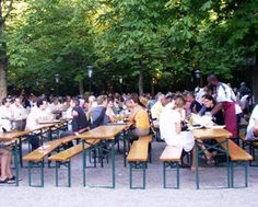Aumeister a typical beer garden in Munich - always crowded. Wonderful location in the northern English Garden.