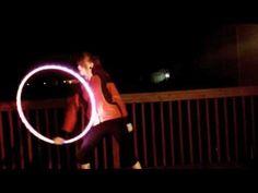 this gal's got her hoop groove back! w/ LED hoop