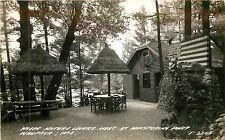 Wisconsin, WI, Waupaca, Whispering Pines 1940's Real Photo Postcard