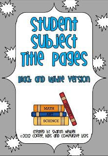 Student Subject Title Pages