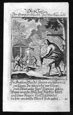 1700 Seiler ropemaker Seil Tau Beruf profession Weigel Kupferstich antique print in Antiquitäten & Kunst, Grafik, Drucke, Originaldrucke vor 1800 | eBay
