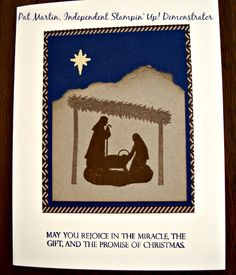 Joyful Nativity Stamp Set from Stampin' UP! For details see my blog at https://www.stampinwithpat.blogspot.com