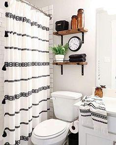 Boho Bathroom, Bathroom Design Small, Bathroom Interior, Small Bathrooms, Simple Bathroom, Bathroom Designs, Budget Bathroom, Bathroom Black, Bathroom Accesories
