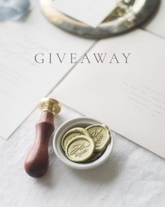 GIVEAWAY // Needless to say we're sleep deprived and ready to roll. It's launch week ladies and gents! Hallelujah!  We're celebrating by giving away a semi-custom wax seal and 10% off one order from the shop! The wax seal will look similar to the one above only the monogram will be customized to a letter of your choice and you'll also receive two wicked wax sticks in a color of your choice. --- TO ENTER: simply follow us tag two friends who you think might be interested in this and comment…