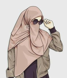 Your scarf is the most essential part inside the outfits of women together with hijab. Hijabi Girl, Girl Hijab, Niqab Fashion, Muslim Fashion, Tmblr Girl, Hijab Drawing, Drawing Eyes, Hijab Quotes, Islamic Cartoon