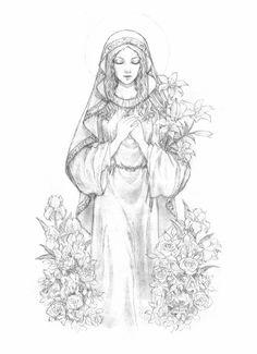 Virgin Mary by ~Luoya on deviantART