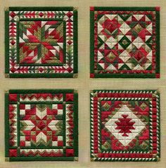 Two-Handed Stitcher: quilt inspired needlepoint using Kreinik threads