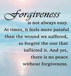 Forgiveness hurts...