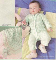 Receita de Tricô: Saida de maternidade em trico