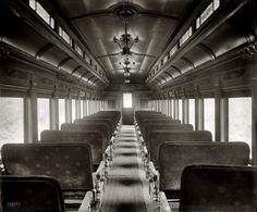"Juniper Gallery (Shorpy Historical Photo Archive) - circa 1930. ""Car interior, Washington & Old Dominion R.R."""