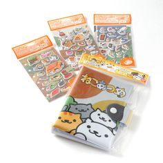 **Bandai** made these mega-cute **Nekomori stickers** with the aim of appealing to cat lovers and sticker collectors. In fact, they are so adorable that you'll probably like them even if you're just one of the above! They come in three versions, **Yancha-mori**, **Mattari-mori**, and **Suppori-mori**, plus a **sticker book** if you would like to collect them there rather than decorate your stuff or keep them intact. The sheets are **6.3 inches tall** and **3.3 inches wide**, and each…