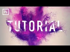 (7) Photoshop Tutorials - Powder Blast Text Effect - YouTube