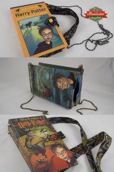 Harry Potter fans will love these wonderful bags made out of actual books. Besides books, also ties were up cycled here. Harry Potter Fans kommen ganz auf ihre Rechnung mit diesen Taschen aus echten Harry Potter Bänden wiederverwertet und kombiniert mit Krawatten. Shops, Up, Personalized Items, Harry Potter Books, Ties, Calculus, Tents