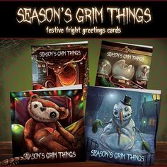 Creepy Christmas cards to put a chill in your chill out this Christmas! Available at Etsy.  http://ift.tt/2lGIUe3  #unique #christmas #alternative #cards #creepy #nightmarebeforechristmas #inspired #spooky #goth