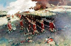 Howard Pyle. Redcoats assault Bunker Hill (Breed's Hill), 17 June 1775.