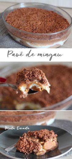 Pavê de Mingau com Brigadeiro, feito com ingredientes gostosos e simples que normalmente temos em casa. Receita econômica e eclética a montagem tanto pode ser feita com bolachas quanto com …