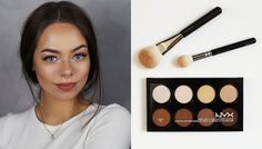 NYX CONTOUR & HIGHLIGHT PRO PALETTE / BEAUTY ON A BUDGET - YouTube