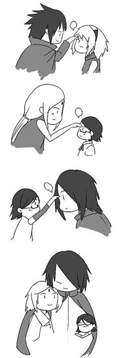 Forehead poke family- lol - SasuSaku <3