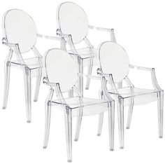 Zuo Anime Transparent Modern Set of 4 Dining Chairs See more products... http://www.eurostylelighting.com/ #interior_design #home_decor #modern_lighting #lighting