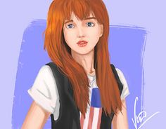 """Check out new work on my @Behance portfolio: """"Red Hair Girl"""" http://be.net/gallery/51416965/Red-Hair-Girl"""