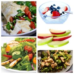 Your perfect 17 Day Diet (cycle 1) day. Or, just a perfect meal plan for anyone wanting to watch their weight or eat healthy!
