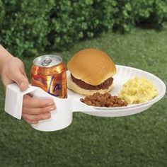 Food & Drink in one hand good for kids and cookouts