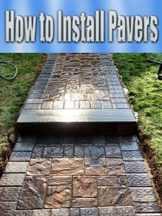 How to Install Pavers. For large projects, it's important to consult a soils engineer to evaluate whether your soil is prone to abnormal expansion and... #diy #Pavers