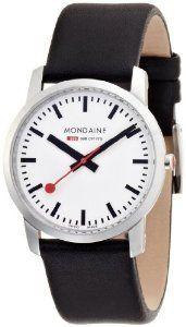 Mondaine Women's A672.30351.11SBB Simply Elegant Leather Ban | watches.reviewatoz.com