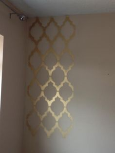Gold geometric wall