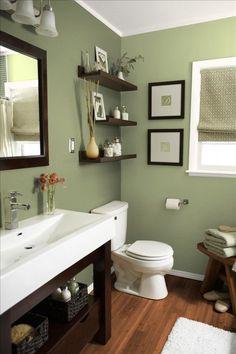 Les 13 meilleures images de salle de bain verte | Bathroom green ...