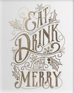 'Eat, drink & be merry' print