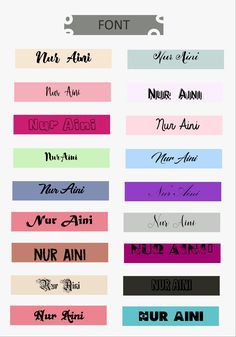 #font #lattering #example #color