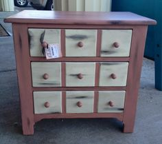 Ary Ann's Place: Darling Refinished Nightstand/End Table
