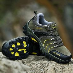 Fashion Men's Anti-collision Toe Metal Eyelets Wearable Outdoor Hiking Sneakers - NewChic Mobile