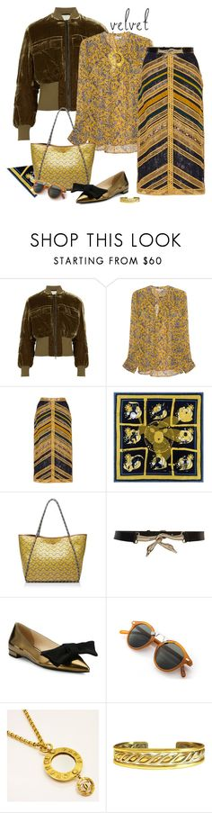 """""""Crushing on Velvet"""" by ysmn-pan ❤ liked on Polyvore featuring By Malene Birger, Étoile Isabel Marant, Costarellos, Tory Burch, Lanvin, Prada, Chanel, Sergio Lub, contest and velvet"""