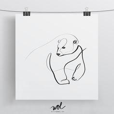 line art Polar Bear Art Polar Bear Print Gift Ideas for Mom and Dad Polar Bear Drawing, Polar Bear Tattoo, Black Bear Tattoo, One Line Animals, Bear Tattoos, Ship Tattoos, Arrow Tattoos, Word Tattoos, Geometric Bear