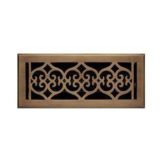 Old Victorian Brass Floor Register -