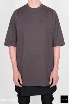 Rick Owens CREWNECK T SHORT SLEEVES - darkdust 283 € | Seven Shop