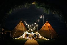 Kirstie & Simon's Derbyshire Tipi Wedding - Sami Tipi - Two Giant Hat Tipis - Jenny Macare Photography Tipi Wedding, Wedding Night, Sailing Outfit, Hammock Chair, Derbyshire, Byron Bay, Night Skies, Night Time, Glamping