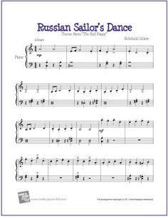 Russian Sailor's Dance (Gliere) | Digital Print Sheet Music for Piano - http://makingmusicfun.net/htm/f_printit_free_printable_sheet_music/russian-sailors-dance-piano.htm